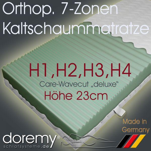 "Orthopädische 7-Zonen Kaltschaum-Matratze ""deluxe"" / Höhe 23 cm"