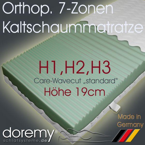 Orthopädische 7-Zonen Kaltschaum-Matratze / Höhe 19 cm